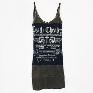 SALVAGE Death Cheaters Skull Patchwork Corset Dres